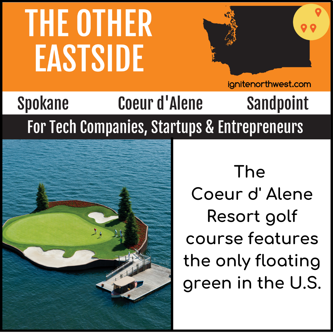 The Coeur d'Alene Resort gold course features the only floating green in the U.S.
