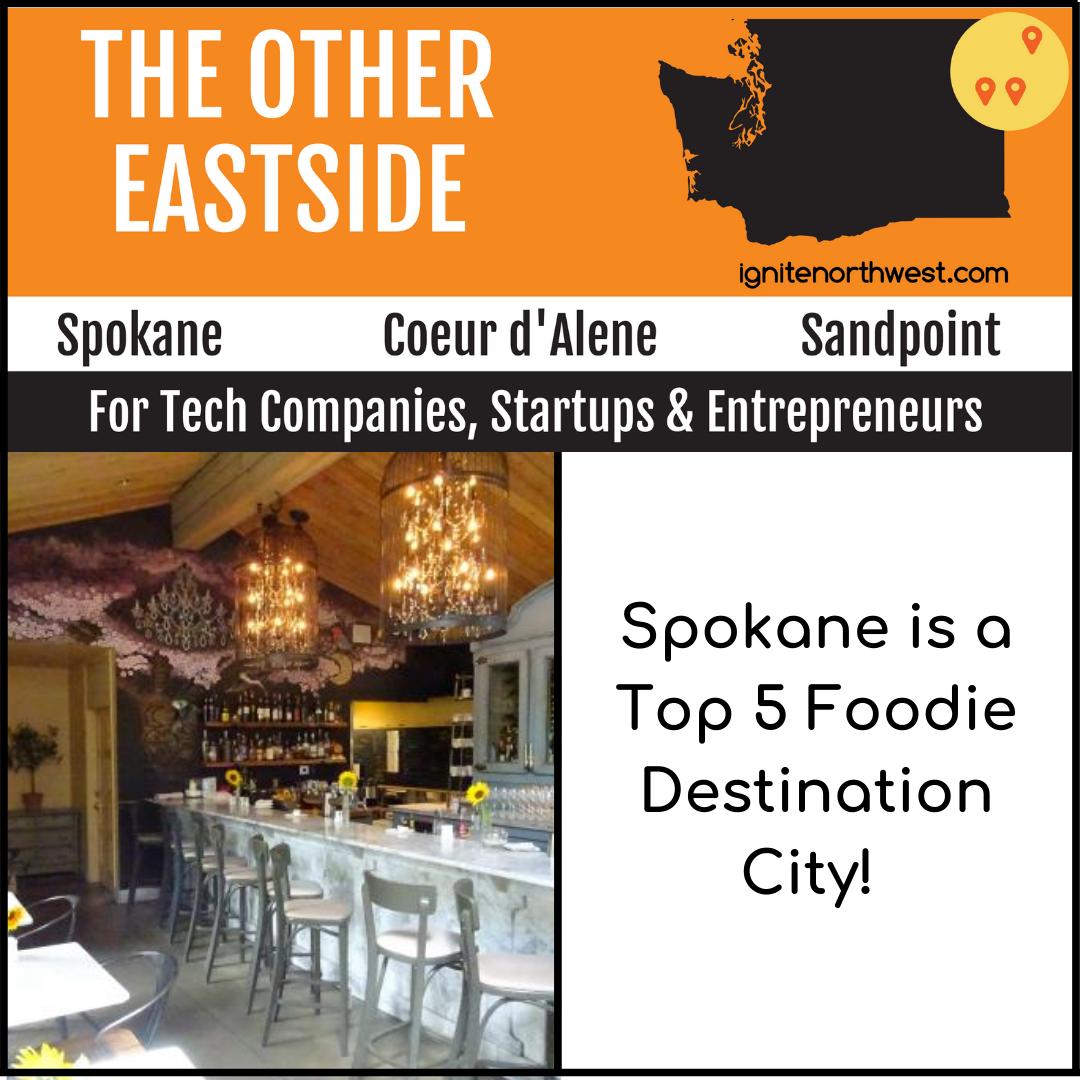 Spokane is a top 5 foodie destination city