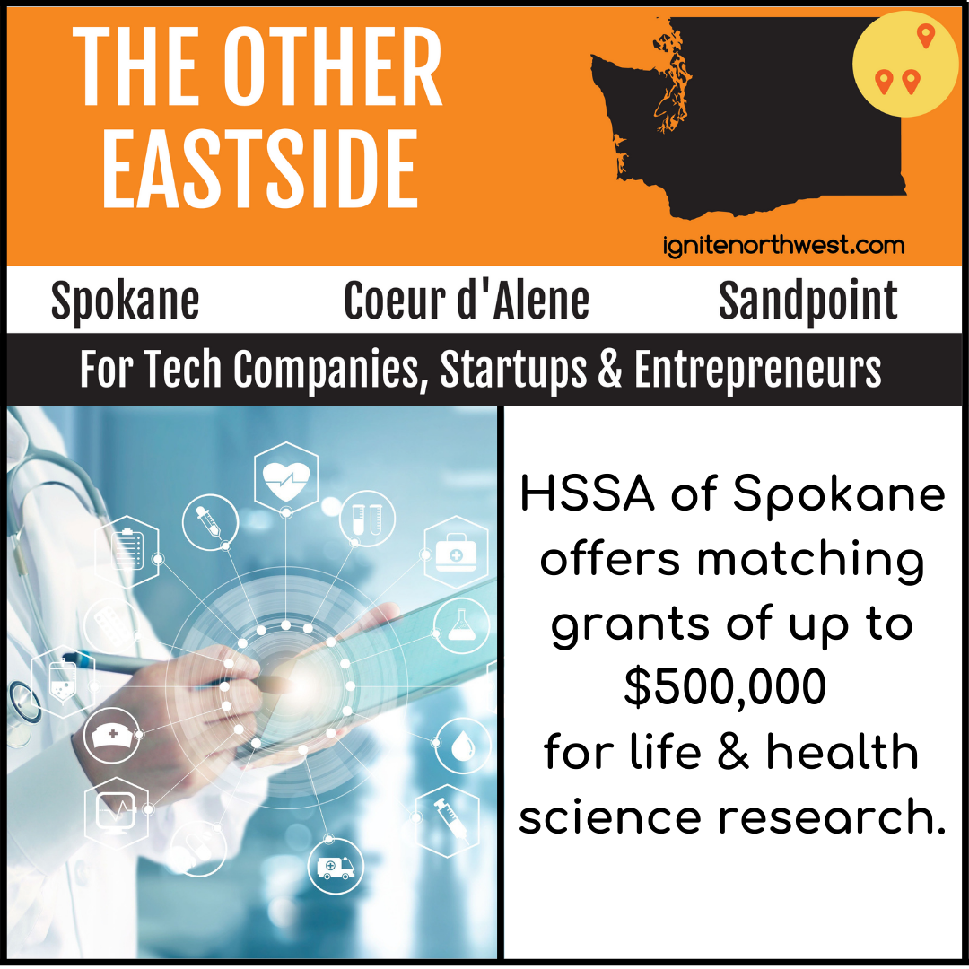HSSA of Spokane offers matching grants of up to $500,000 for life & health science research