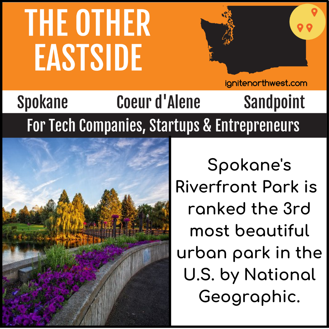 Spokane's Riverfront Park is ranked the 3rd most beautiful urban park in the U.S. by National Geographic