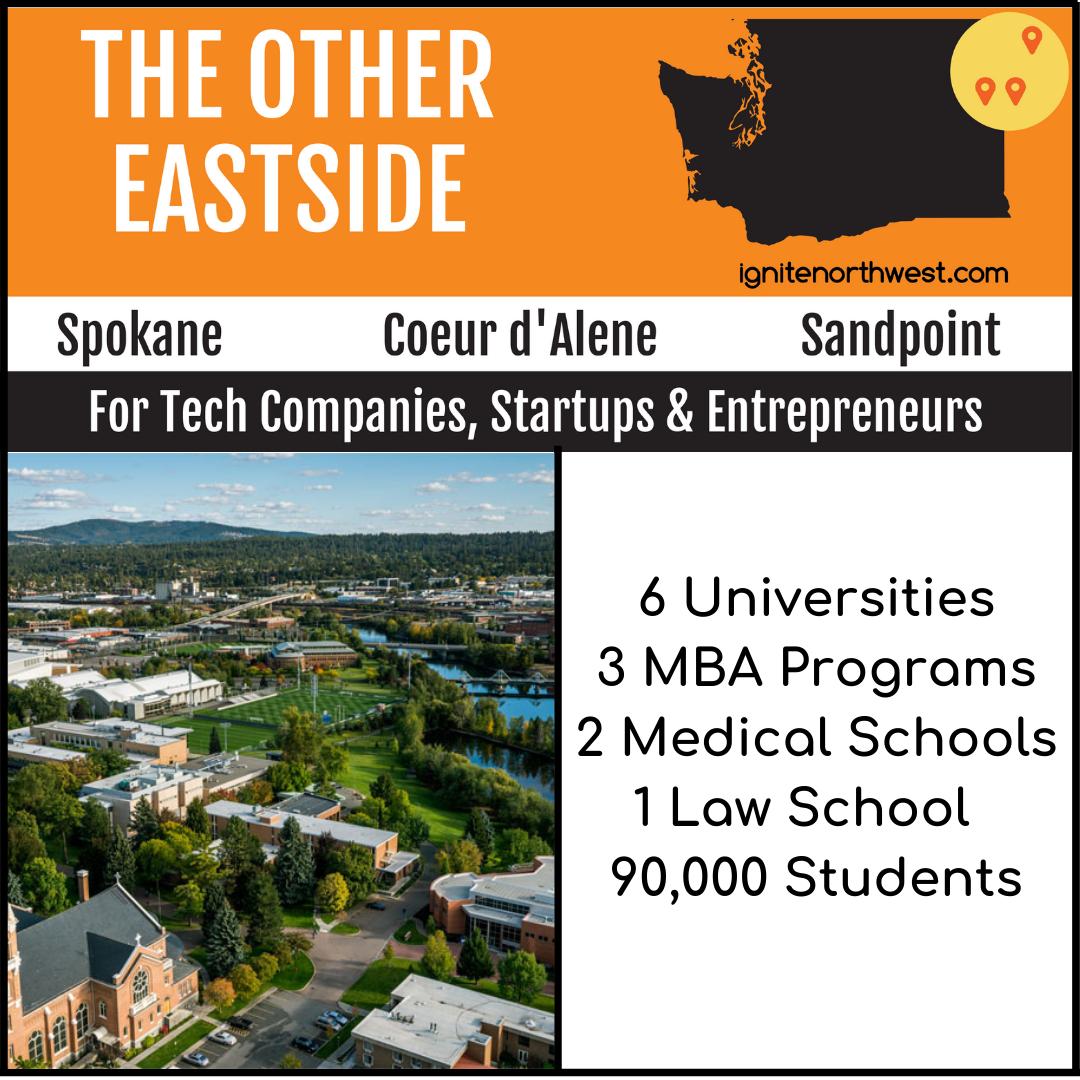 6 universities, 3 MBA programs, 2 medical schools, 1 law school, and 90,000 students