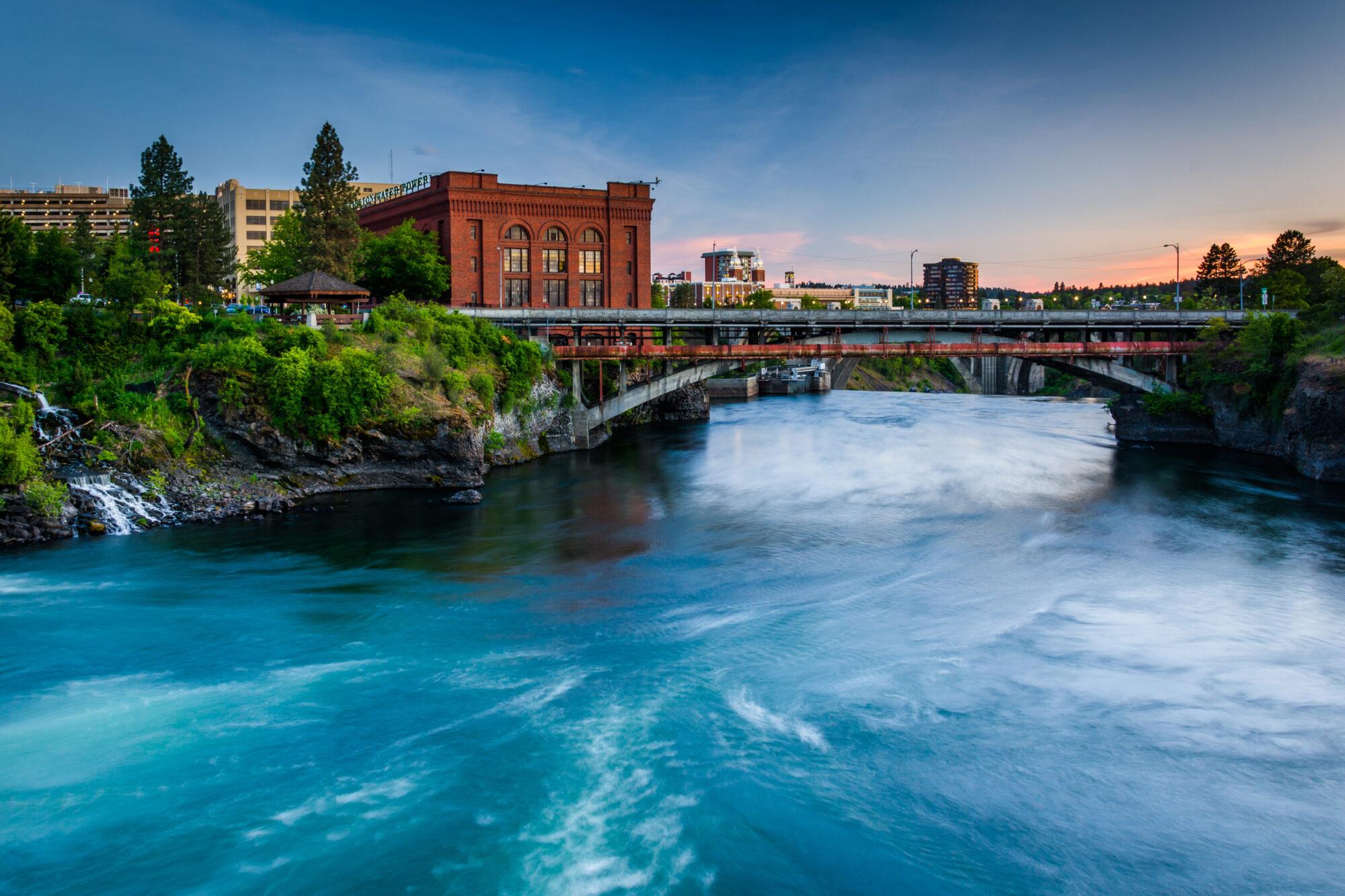 Downtown Spokane River Walkpath