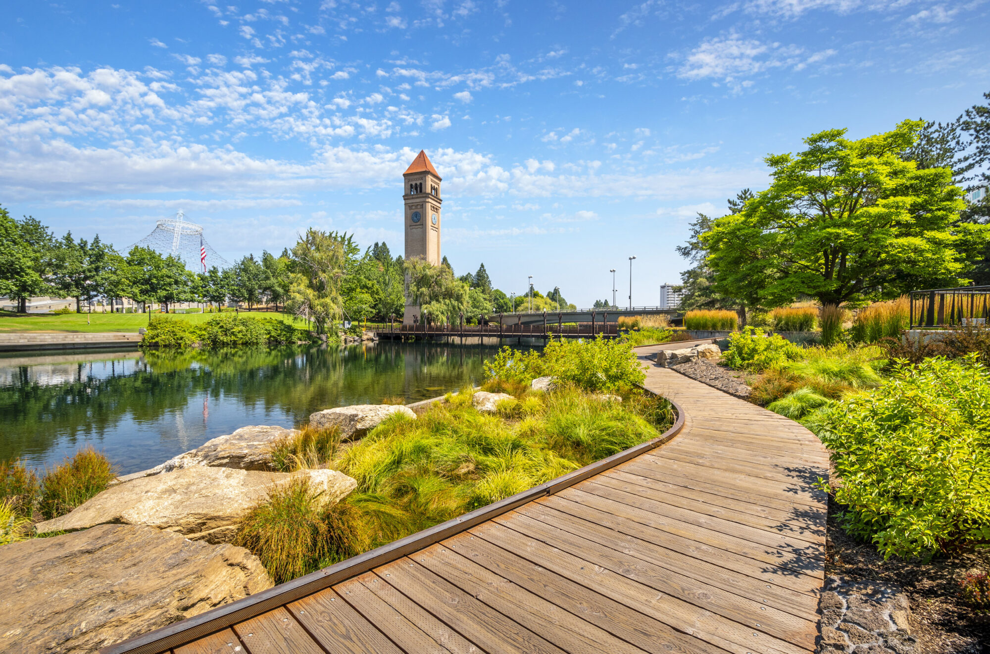 Downtown Spokane Riverfront Park Clocktower