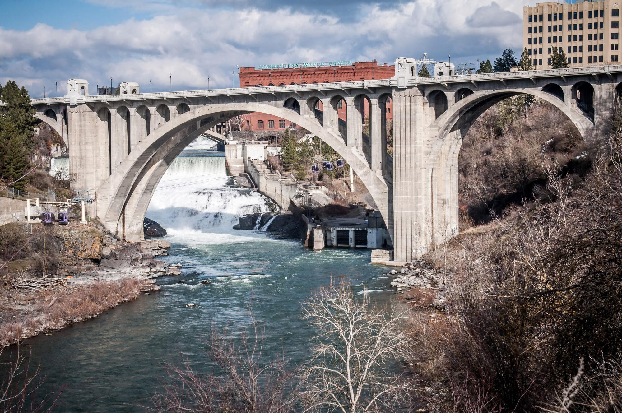 Downtown Spokane River Bridge