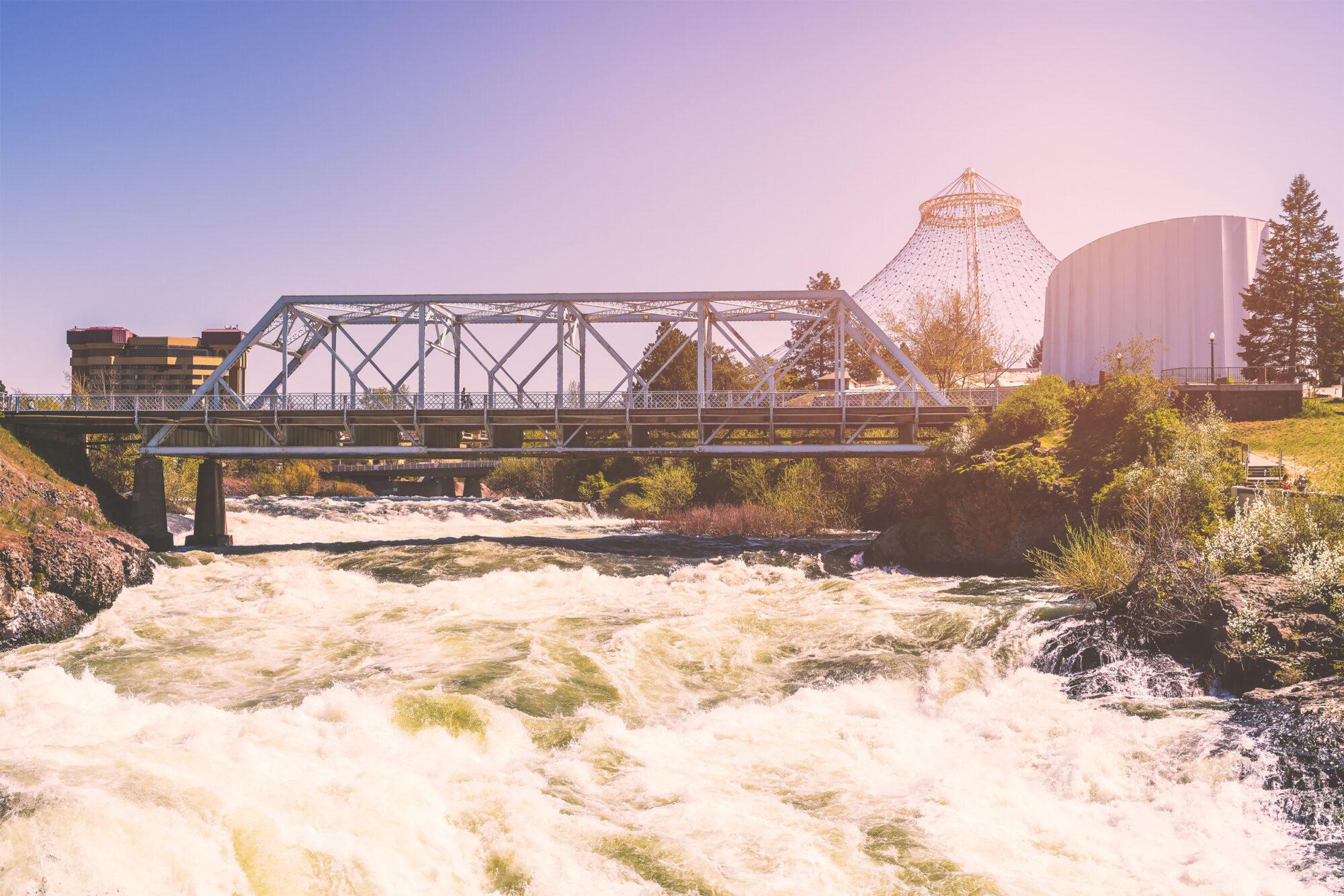 Downtown Spokane Bridge and Pavilion