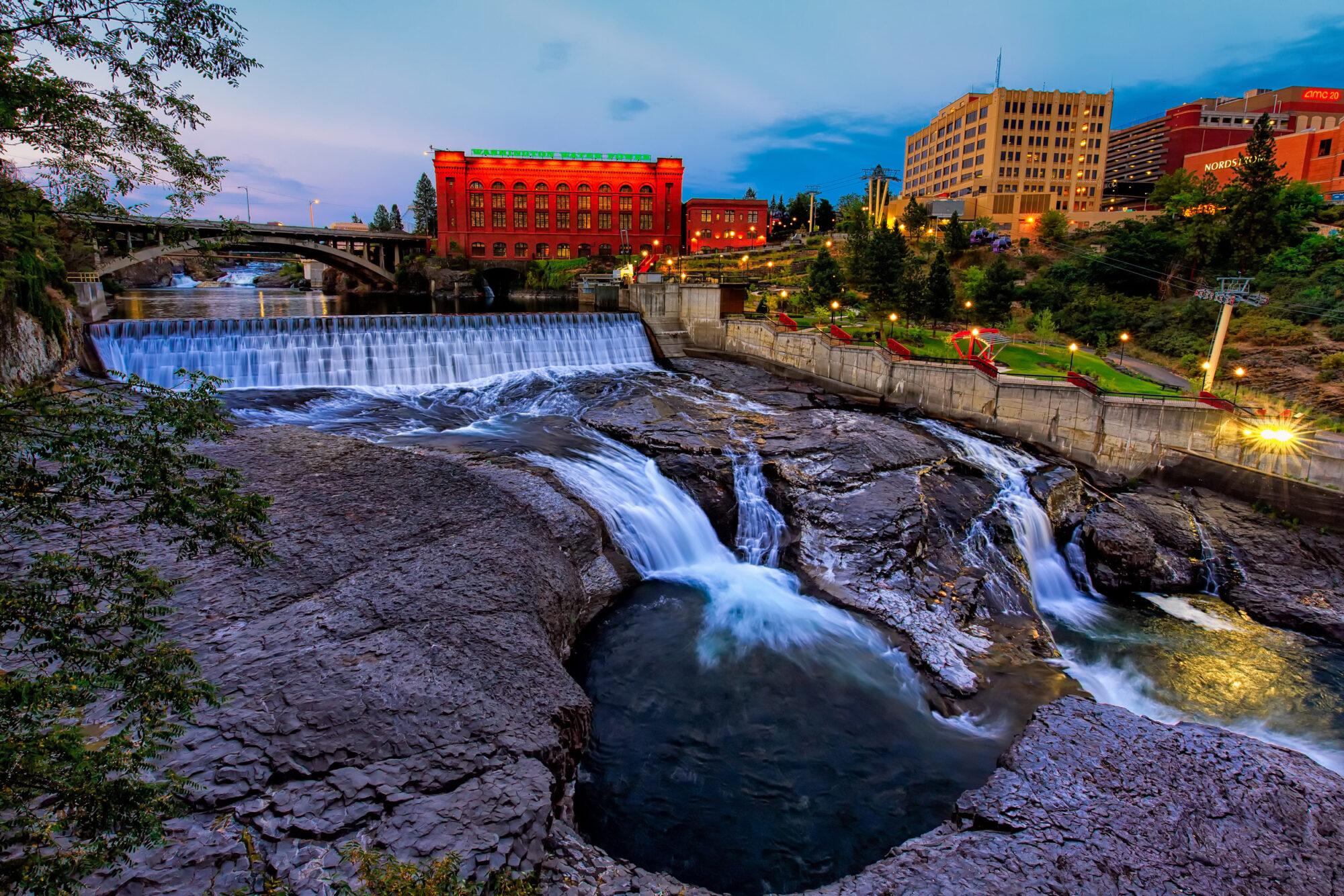 Downtown Spokane River Waterfalls
