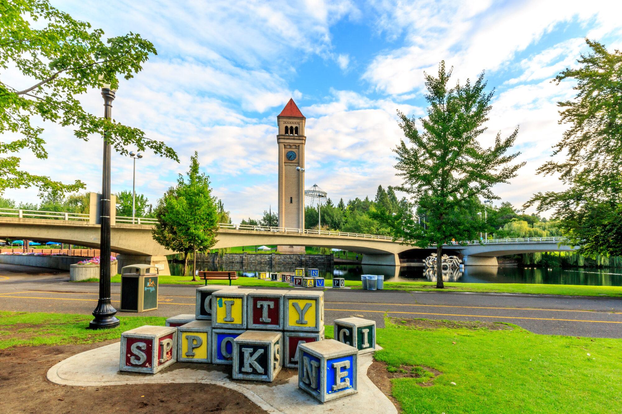 Downtown Spokane City of Spokane Blocks and Clocktower