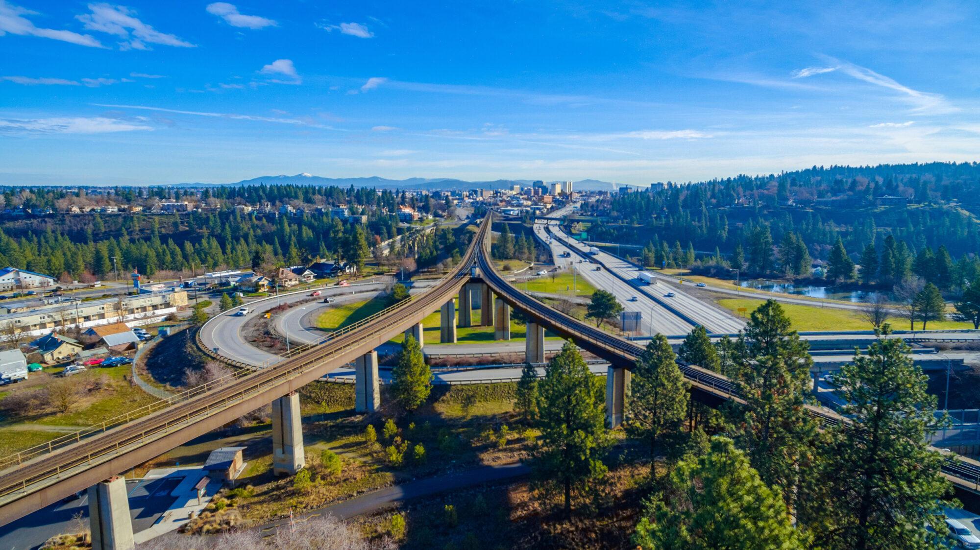Spokane Freeway Split