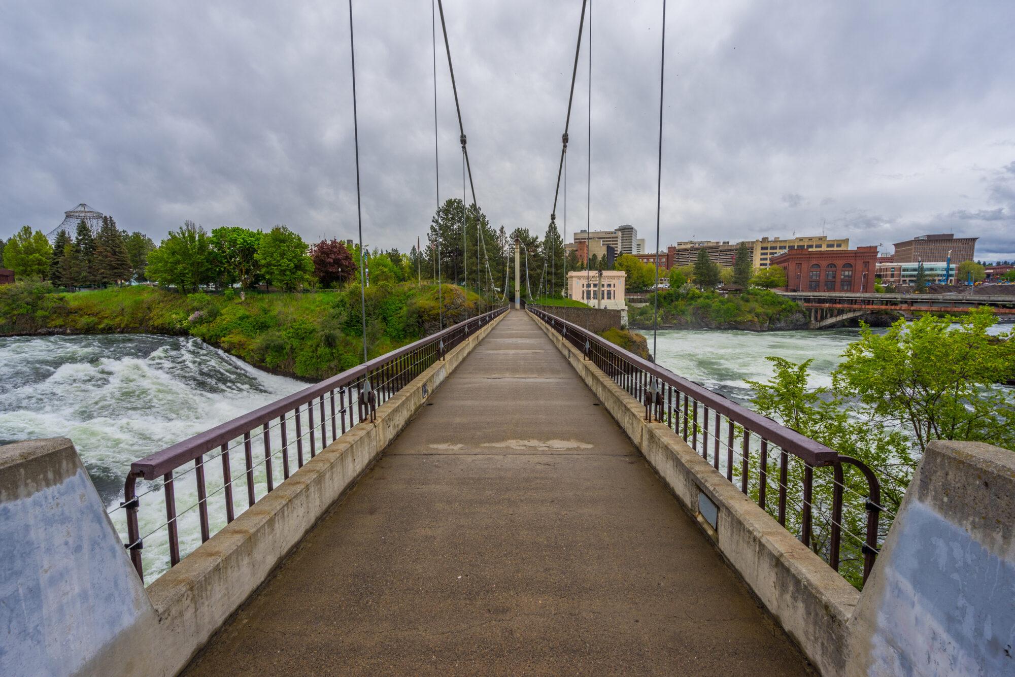 Downtown Spokane River Pedestrian Bridge